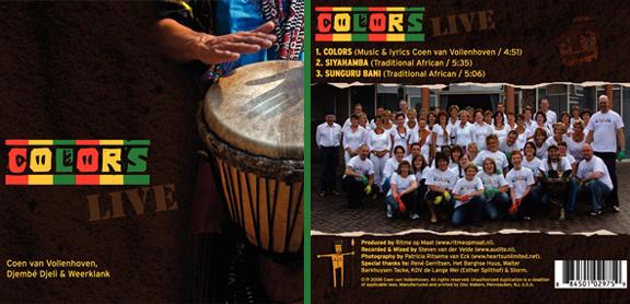 CD Colors - voor en achterkant